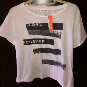 Sundry Love Forever Graphic Tee Women's Size 1 NWT